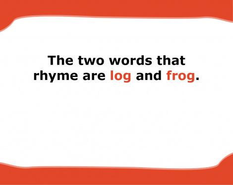 log and frog