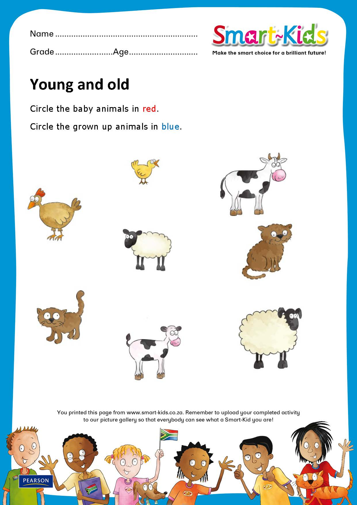 sk worksheet young and old jpg