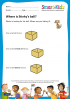Preschool: Where is Stinky's ball?