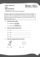 Grade 1 English Worksheet: Comprehension