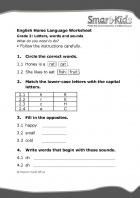 Grade 2 English Worksheet Letters, words and sounds
