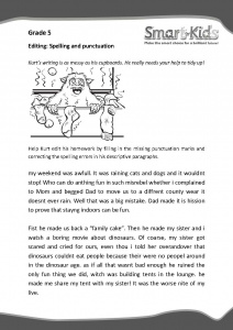 Worksheets Grade 5 English Worksheets grade 5 english worksheet editing smartkids editing