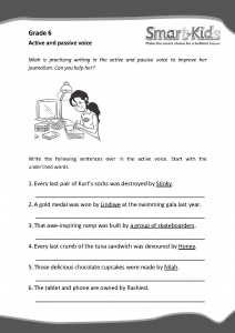 Grade 6 English Worksheet: Active and Passive Voice | Smartkids