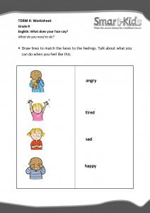 Grade R Worksheet: Feelings | Smartkids
