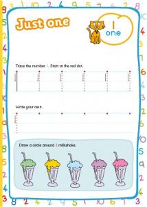 Grade R Worksheet: The number one | Smartkids