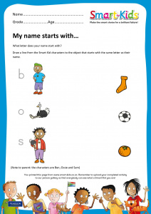 Preschool: My name starts with...