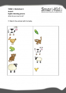 Grade R Worksheet: Matching pictures | Smartkids